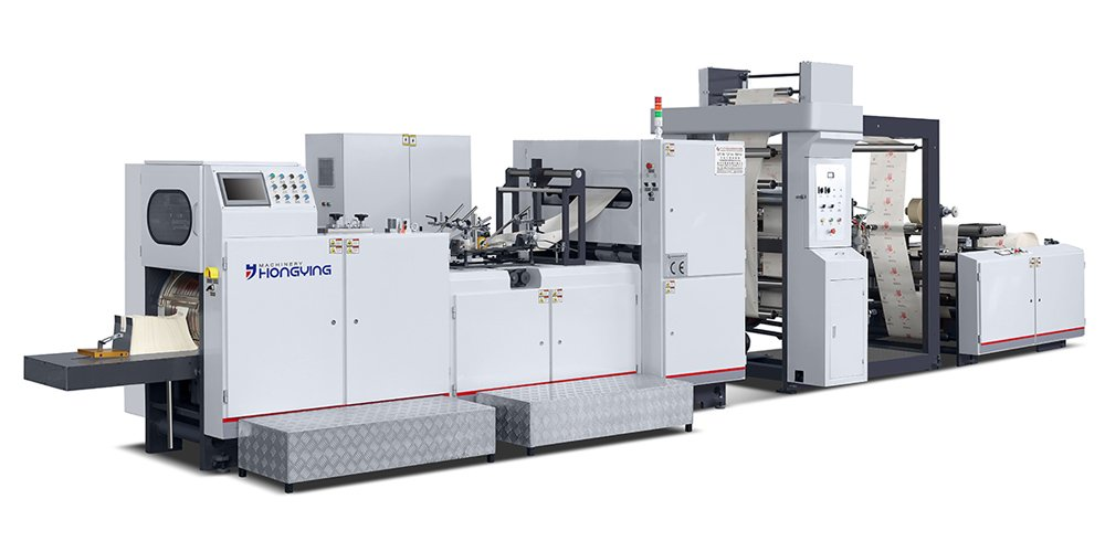 V Shape Food Paper Bag Making Machine With 2 Colors Printing (HY-330)